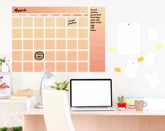 Dry erase wall calendar, large