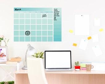 Dry erase wall calendar, small