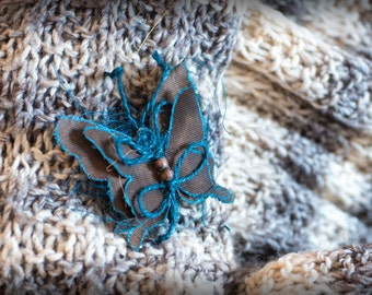 """Butterfly brooch-""""Butterfly"""" Eco-fabric brooches"""