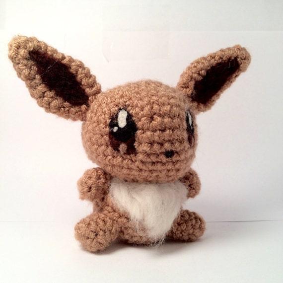 Amigurumi Eevee : Items similar to Crochet Eevee Pokemon Inspired Amigurumi ...