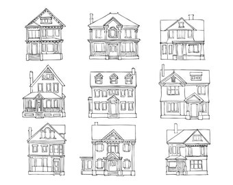 House Elevation Print 3
