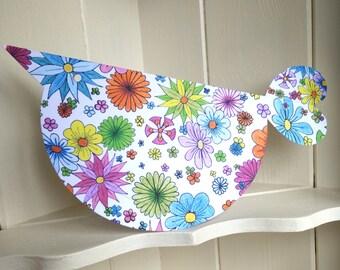 Gorgeous floral birdie card