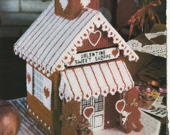 Valentines Sweet Shoppe in Plastic Canvas