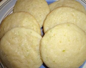 Homemade Lime Tea Cookies (2 Dozen)