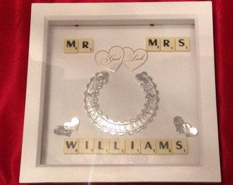 Wedding Scrabble Art