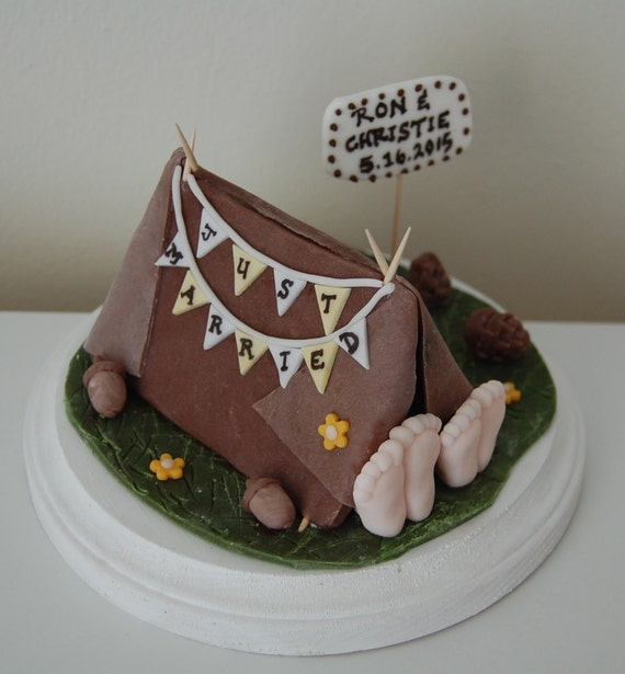 Like this item? & Fondant Camping Tent Wedding Cake Topper