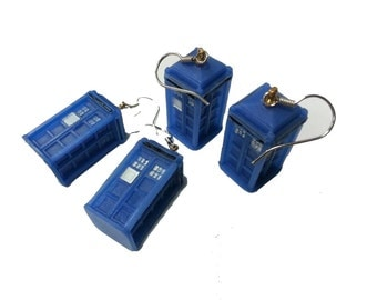 Dr Who Inspired 3D Tardis Earrings (Pair)