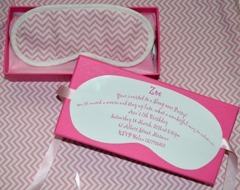 cute lil party sleep over invites