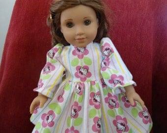 hello kitty pattern nightgown