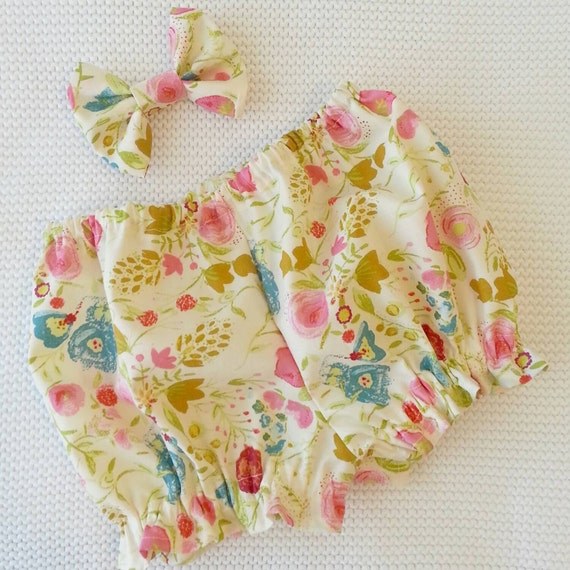 Classic bloomer set Whimsy Garden baby girl by LavenderParade