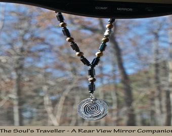 The Soul's Traveller – A Rear View Mirror Charm Companion (Grey/Silver)