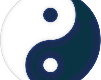 Popular items for ying yang wall decor on etsy for Decoration murale yin yang