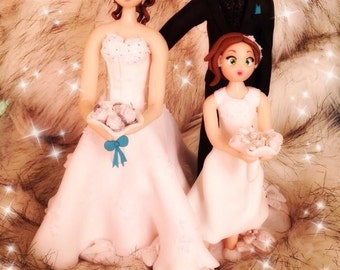 Fully customized Wedding Cake topper/topper wedding cake
