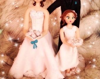 Fully customized Wedding Cake topper/topper wedding cake