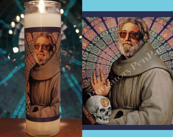 Jerry Garcia Prayer Candle / The Grateful Dead Candle / Vigil Candle
