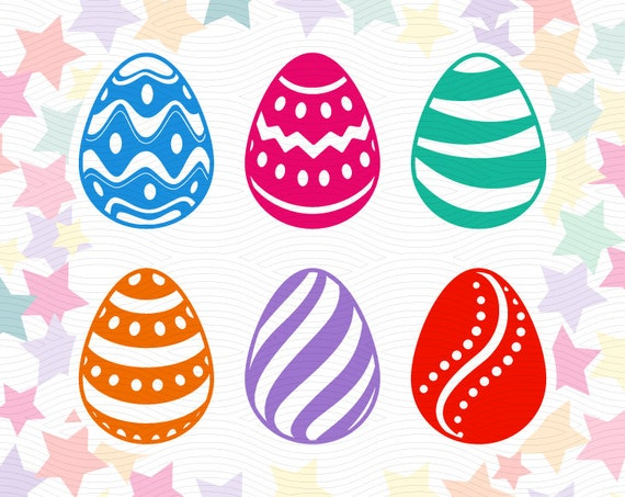 Easter Eggs Cut Files Svg Eps Dxf Studio3 Holiday Cut