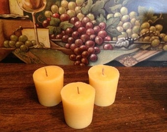 3 Piece Set - Beeswax Votive Candles