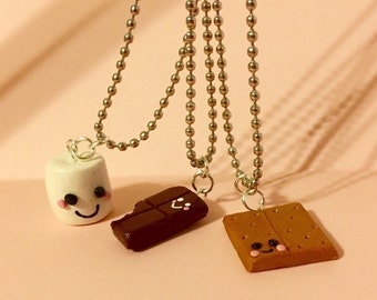 Set of friendship Smore charms