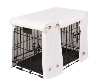 Washable crate covers in Optic White