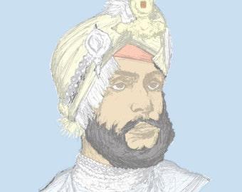 Maharaja Duleep Singh - colour postcard