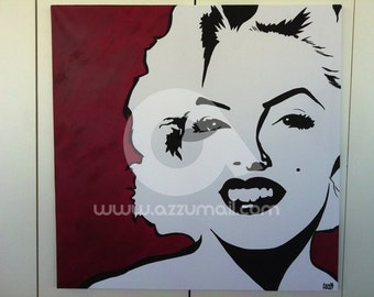 Pop Art Portrait painting from photo, single or couple, actors and actresses, celebrities and famous people, hand painted on canvas with oil paints