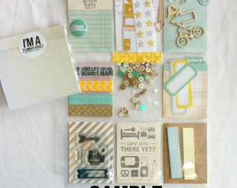 Surprise Planner Pockets: planning embellishment kits. Pocket PenPal Letters
