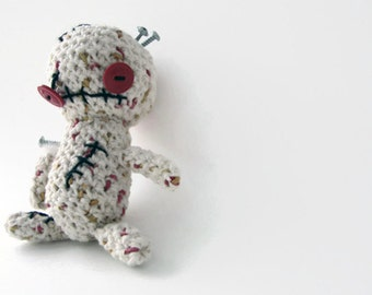 READY TO GO Stuffed crochet zombie plush