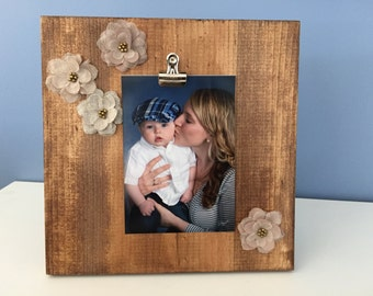 Rustic Clip Picture Frame Flower