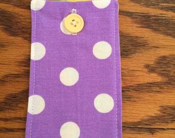 Purple Polka Dots Credit Card Case