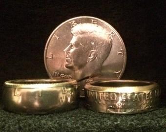 JFK Half-Dollar Ring Sized 8-14