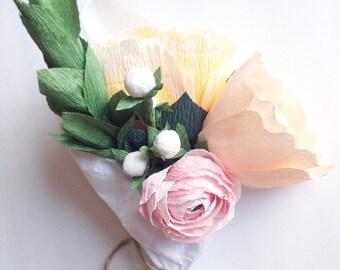 Paper Flower Arrangement, Wedding Centerpiece, Paper Flowers, Wedding Bouquet, Wedding Paper Flowers