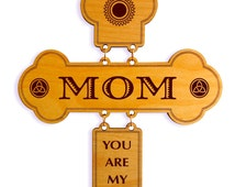 Mom Appreciation Gift,Mom You are my Sunshine,Mothers' day, Valentines Gift to Mom, Wonderful Mom present, Thank you Gift to Mum,Wall Cross.