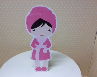 Spa Party Cake Topper Decoration