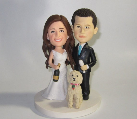 etsy wedding cake topper dog custom wedding cake topper with dogs personalized cake 14051