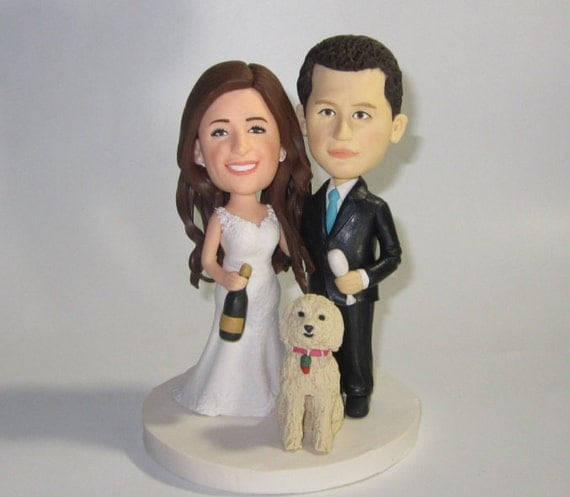 personalized cartoon wedding cake toppers custom wedding cake topper with dogs personalized cake 18261
