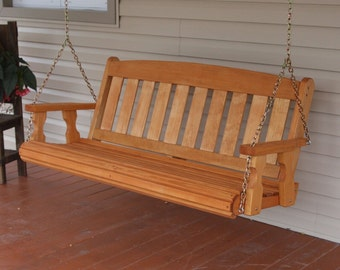 4 Foot Amish Heavy Duty 700 lb Mission Treated Porch Swing