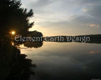 Sunrise Over the Water, Instant Download, 10x8, Lake, Digital Printable, Fine Art Digital Photo, Photography, landscape