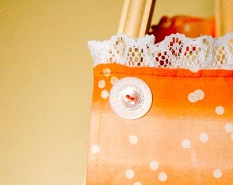 Orange & lace apron