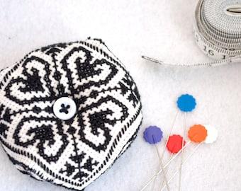 Biscornu Cross Stitch Pin Cushion