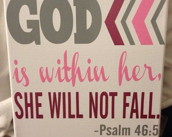 Psalm 46:5 10x10 Canvas Wall Hanging