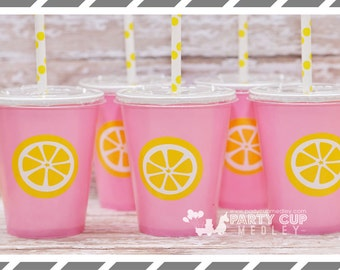 Pink Lemonade Birthday Party-Lemonade Stand Party Cups