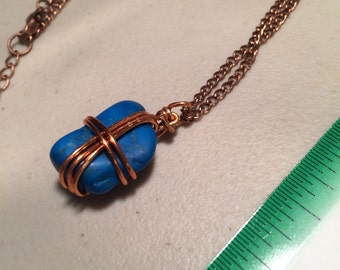 Wire wrap Turquenite Necklace