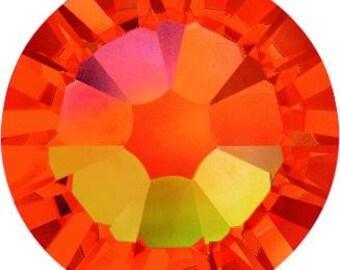 Swarovski Crystal - 2028/2058/2088 - Flatback - Non Hotfix - Fire Opal - SS12,  SS16, SS20