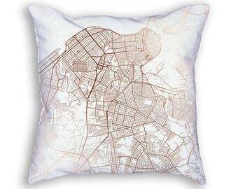 Havana Street Map Throw Pillow