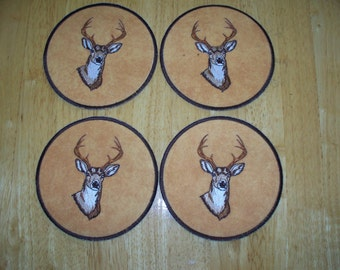White tail deer coasters