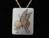 Monarch Butterfly Pin/Pendant ~ Vintage