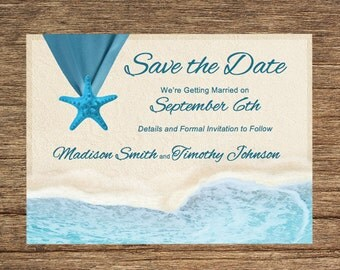 Beach Save The Date BCH-01-STD-Digital Download