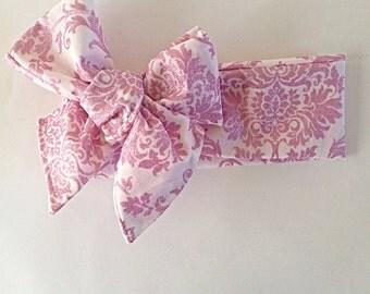 Pink sparkle patterned headwrap
