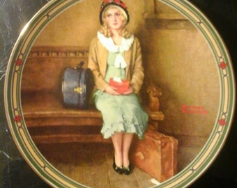 """Norman Rockwell's """"A Young Girls Dream"""" vintage plate"""