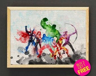 Avengers Wall Art On Etsy A Global Handmade And Vintage
